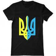 Мужская футболка с символикой Украины принт Ukraine герб