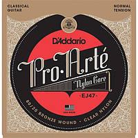 Струны для классической гитары D'Addario EJ47 Classical 80/20 Bronze Wound Nylon Normal Tension