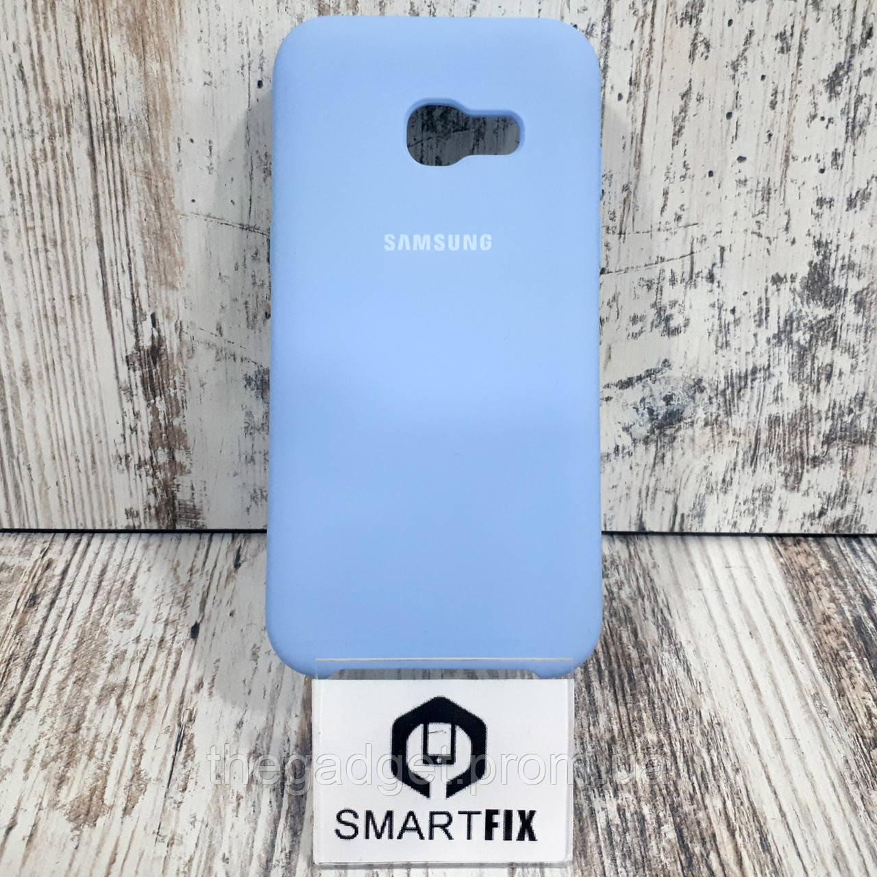 Силиконовый чехол для Samsung A3 2017 (А320) Голубой