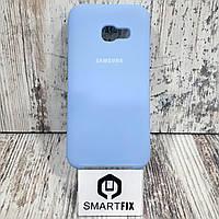 Силиконовый чехол для Samsung A3 2017 (А320) Голубой, фото 1