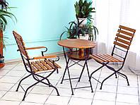 Складной круглый столик для кафе