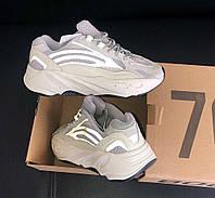 Adidas Yeezy Boost 700 Static Wave | кроссовки женские и мужские; серые; с рефлективом