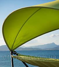 Гамак-качели с каркасом и навесом зеленый, фото 3