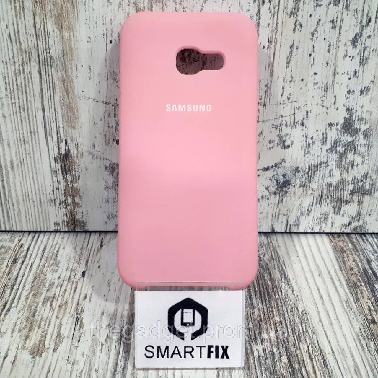 Силиконовый чехол для Samsung A3 2017 (А320) Розовый