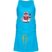 Платье женское  летнее с принтом Coffee cat