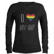 Свитшот женский модный с принтом I love my GF