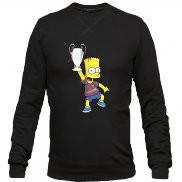 Свитшот мужской стильный с принтом Bart Simpson Barcelona