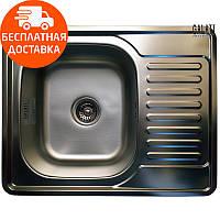 Кухонная мойка стальная Galati Donka Textura 7896 нержавеющая сталь