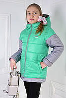 Куртка-жилетка демисезонная для девочки АЛИСА, фото 1