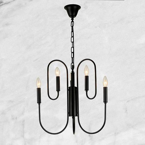 Люстра в современном исполнении (73-E001 BK) 6 ламп, фото 2