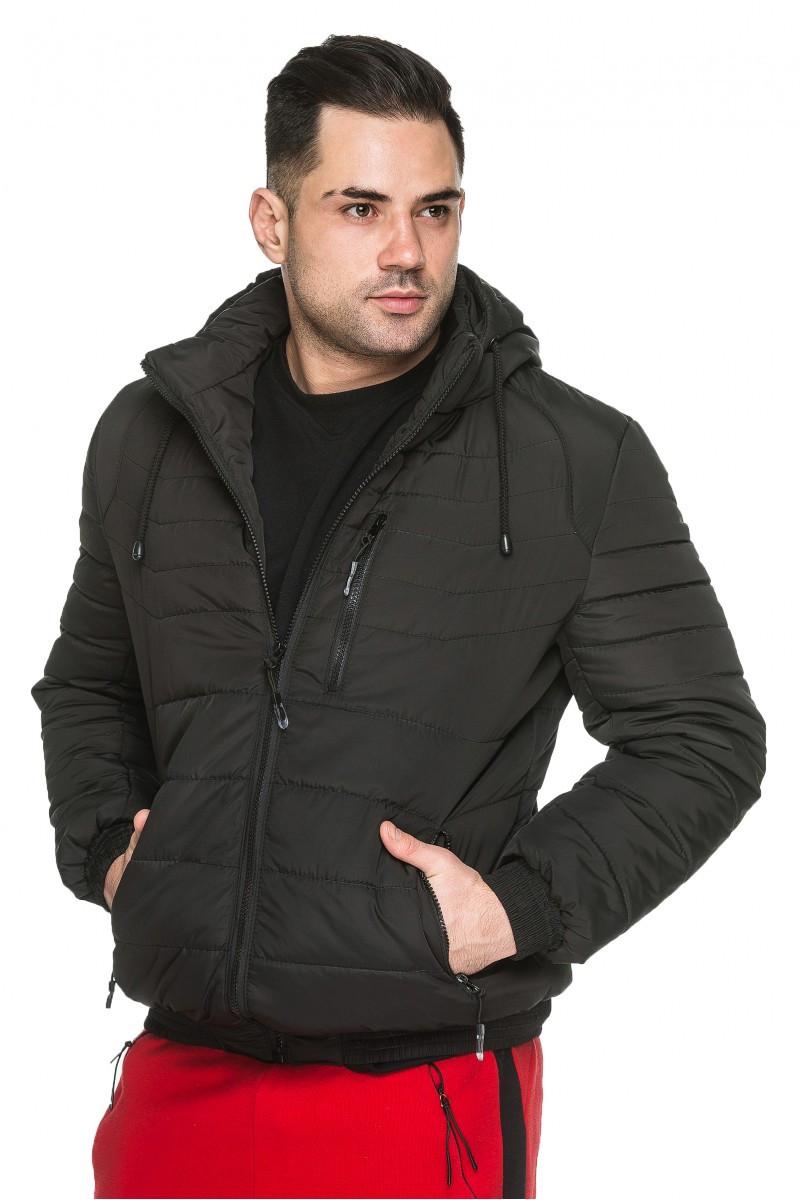 Мужская стеганная демисезонная куртка, 48 размер