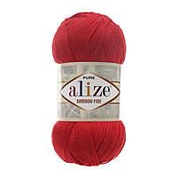 Alize Bamboo Fine червоний № 56