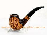 Курительная трубка резная «Герб Украины» 120, эксклюзивный подарок