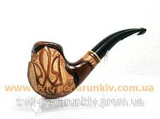 Курительная трубка резная «Герб Украины» 120, эксклюзивный подарок, фото 3