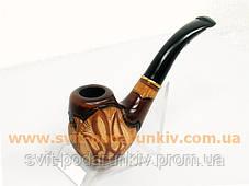 Курительная трубка резная «Герб Украины» 120, эксклюзивный подарок, фото 2