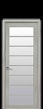 Дверное полотно Виола Ясень Патина со стеклом сатин