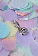 Шарм срібний з камінням