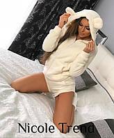 Женская махровая пижамка с шортиками