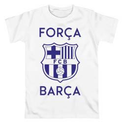 Футболка с принтом Барселона белая