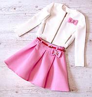 Детский костюм юбка+пиджак р.128-152 Марианна 3, фото 1