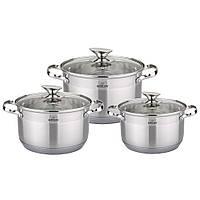 Набор посуды из нержавеющей стали Bohmann 2,1л - 3,9л. (от 4 комплектов)