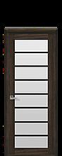 Дверное полотно Виола Орех 3D со стеклом сатин