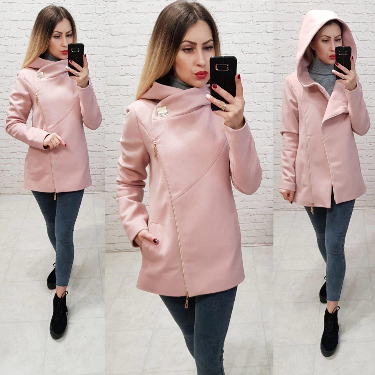 """Пальто с капюшоном короткое арт. 156 с капюшоном розовая пудра: продажа,  цена в Одессе. пальто женские от """"Интернет магазин женской одежды Khan"""" -  922145517"""