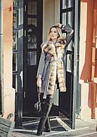 Пальто с мехом куницы под заказ, фото 1