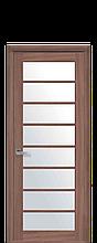 Дверное полотно Виола Ольха 3D со стеклом сатин