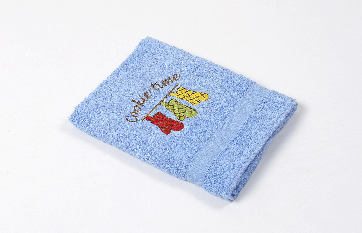 Полотенце кухонное Lotus Sun - Cookie time голубой 40*70