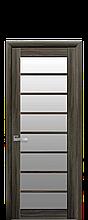 Дверное полотно Виола Кедр со стеклом сатин