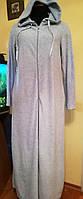 Домашний велюровый  халат  женский длинный , хлопок, Турция
