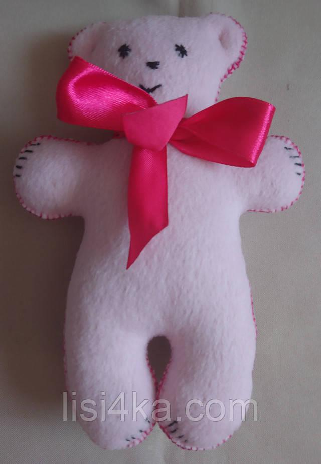 Игрушка медвежонок розового цвета