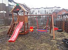 Детская площадка Spielplatz Томас с двойной качелью Гнездо, лазом и песочницей, фото 3