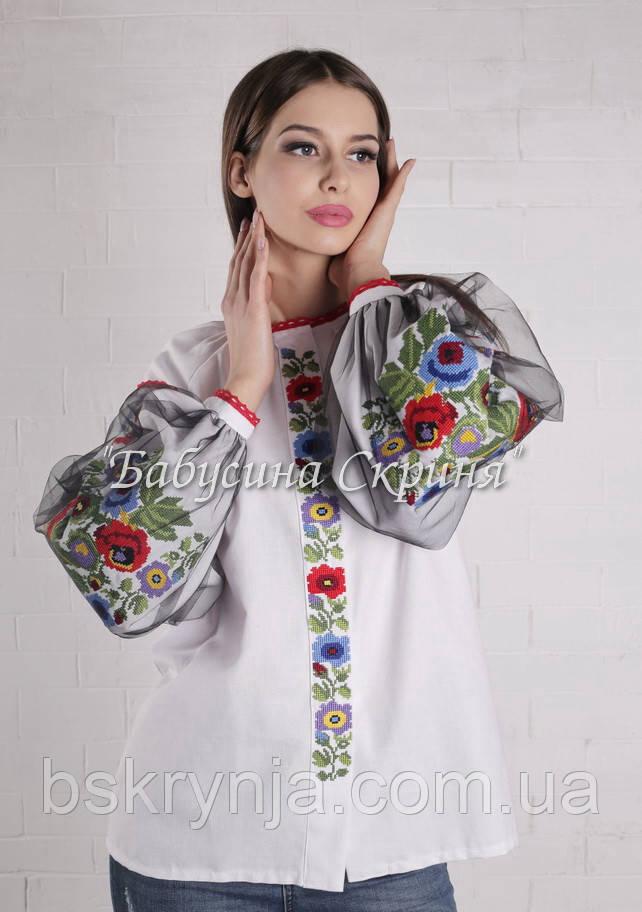 Заготівля для вишивки жіночої сорочки БС-119-3