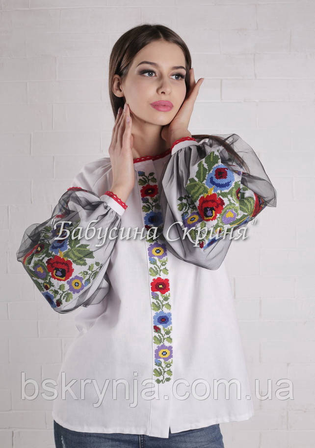 Заготовка для вишивки жіночої сорочки БС-119-3