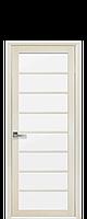 Дверное полотно Виола Дуб Жемчужный со стеклом сатин