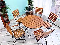 Складной круглый стол для кафе