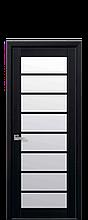 Дверное полотно Виола Венге DеWild со стеклом сатин