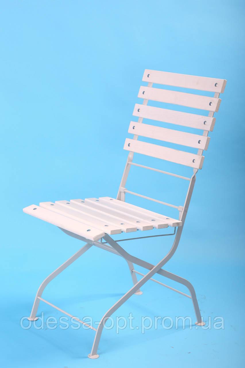 Складной стул для кафе белый