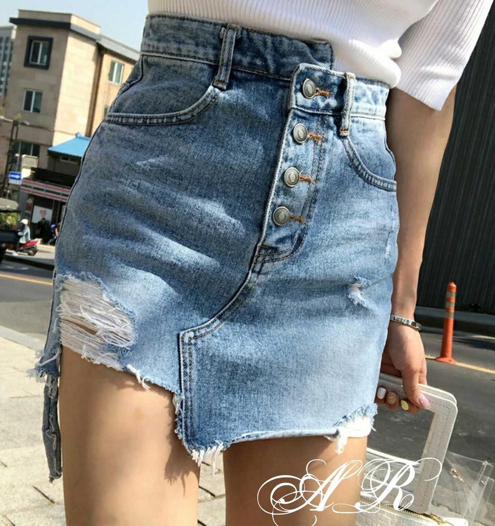 5c0ac9dd2808 Джинсовая юбка, модная юбка, джинсовая юбка с потертостями, рваная  джинсовая юбка, ...