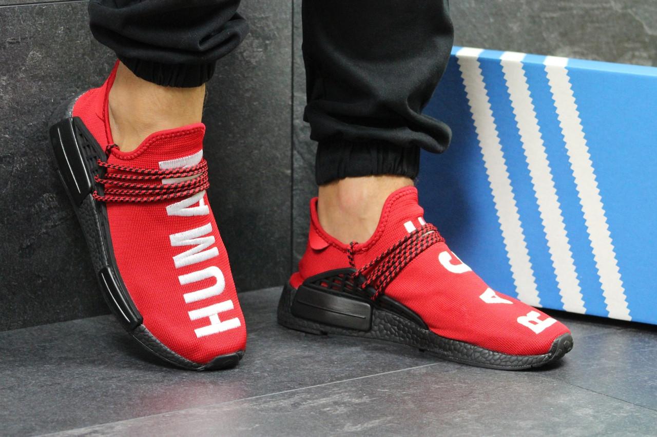 Мужские кроссовки Adidas NMD Human RACE (красные)