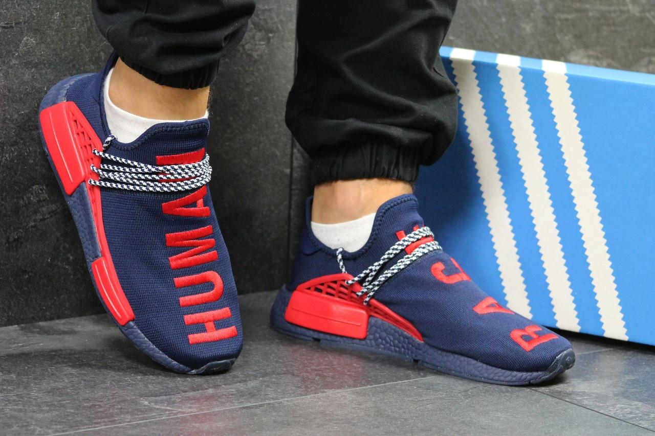 Мужские кроссовки Adidas NMD Human RACE (темно-синие)