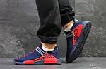 Мужские кроссовки Adidas NMD Human RACE (темно-синие), фото 6
