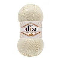 Alize Cotton Baby Soft молочный № 62 , фото 1