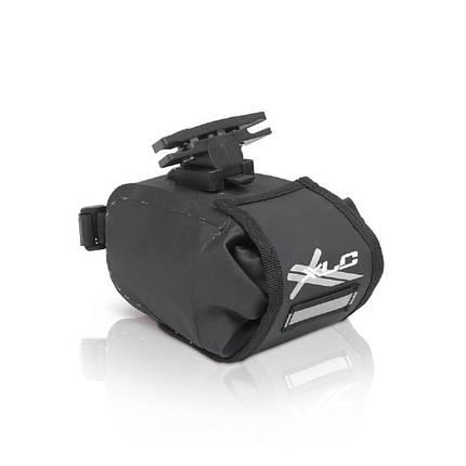 Сумка подседельная XLC BA-W22, черно-серая, 17x10x11 см, фото 2