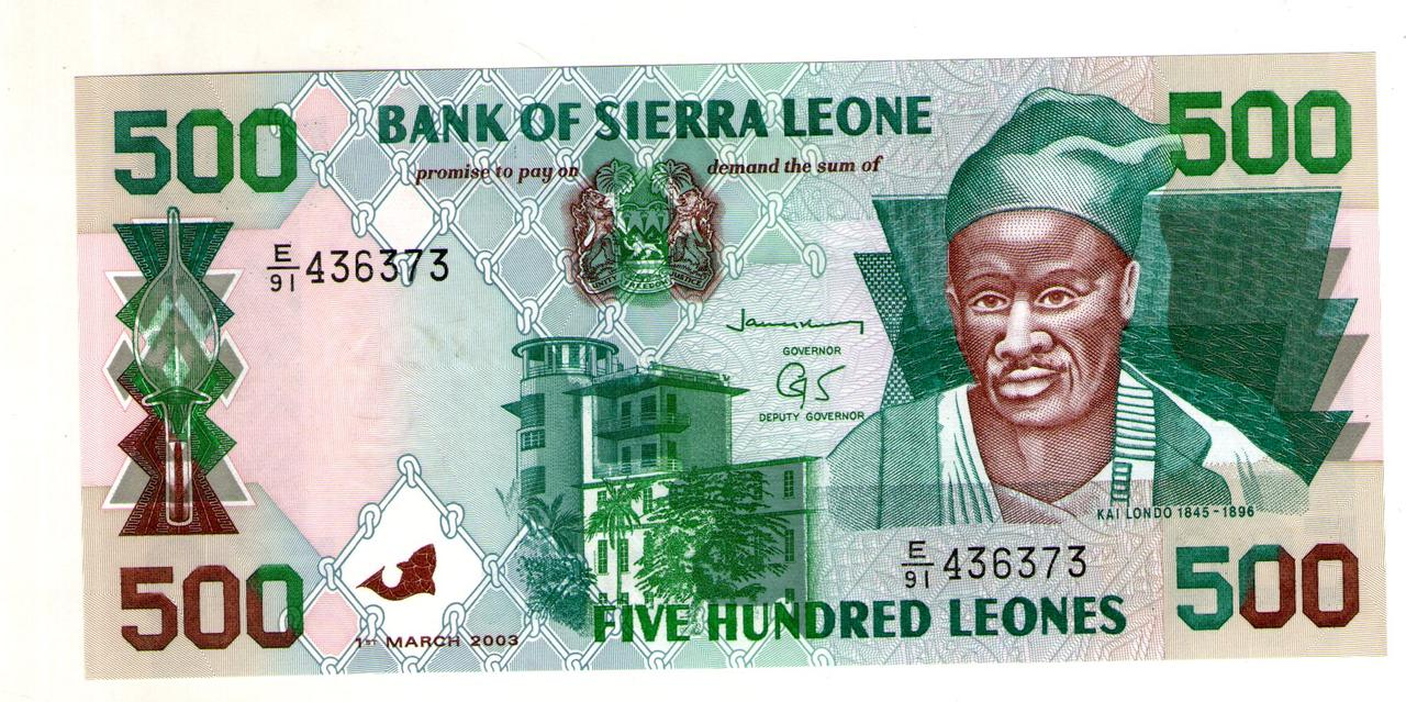 Сьерра-Леоне 500 леоне 2003 год состояние  UNC  №91