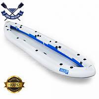 Байдарка надувная Ладья ЛБ-450Н-3 Базовая Рыбацкая для сплавов по гладкой воде