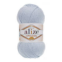 Alize Cotton Baby Soft голубой № 480, фото 1
