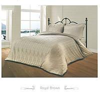 Жакардовий комплект постільної білизни Le Vele spring series Royal brown